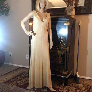 Gold dress by MODA International.